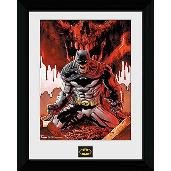 Batman Seeing Red inramade Collector Print 40x30cm