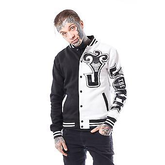 Heartless  - joker ha ha - mens cotton varsity jacket - black