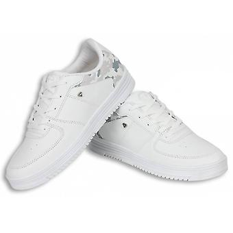 Shoes - CMS77- Army Full White - White