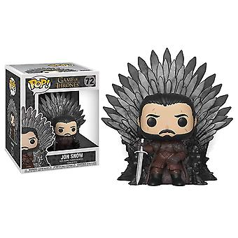 POP Deluxe: GOT S10 - Jon Snow Sitting On Iron Throne
