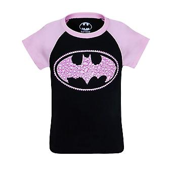 Batgirl kinderen suiker glitter symbool T-shirt