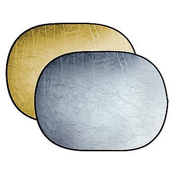 BRESSER BR-TR5 reflector plegable oro/plata 90x120cm
