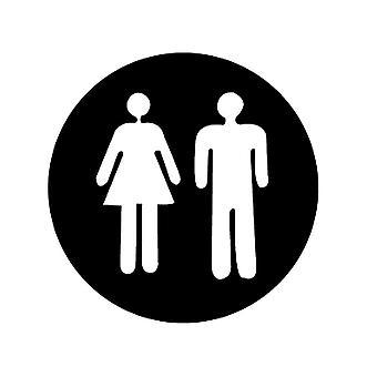 Sticker decalasa Toa Toilet urgente Uomo e donna
