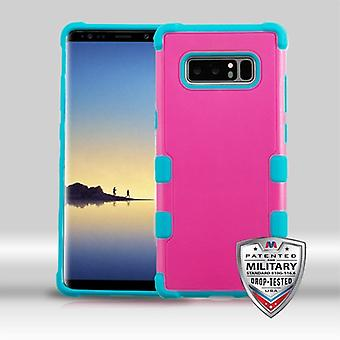 MYBAT Natural Hot Pink/Tropical Teal TUFF Merge Hybrid Protector Cover   for Galaxy Note 8