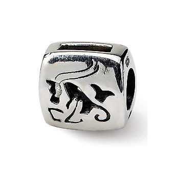 925 Sterling Silver Polished Reflections Capricorn Zodiac Bead Charm Pendant Necklace Jewelry Gifts for Women