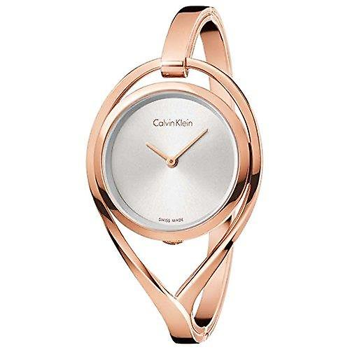 Calvin Klein Rose Gold Plated Case Rose Gold Plated Bracelet Ladies Watch K6L2M616 32mm