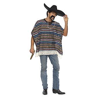 Mens autentiche del Poncho costume accessorio