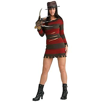 Miss Krueger Freddy Painajainen Elm Street naisten puku