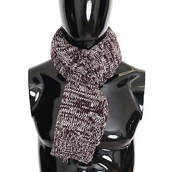 Dolce & Gabbana Bordeaux Wool Knitted Scarf -- MS18858096