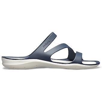 Crocs Femmes Swiftwater Sandal Navy/Blanc
