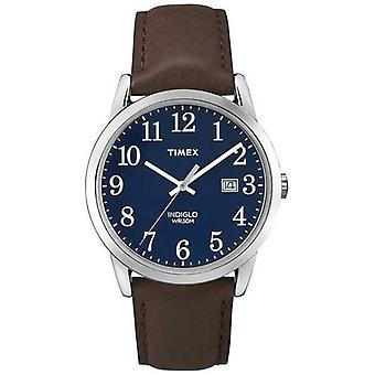 Timex niebieski cyferblat Easy Reader TW2P75900 zegarek