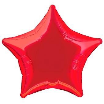 Folie ballon sterren Metallic rood