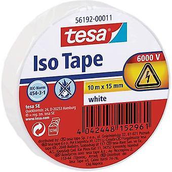 tesa 56192-11-02 Elektrisk tejp Vit (L x W) 10 m x 15 mm 10 m