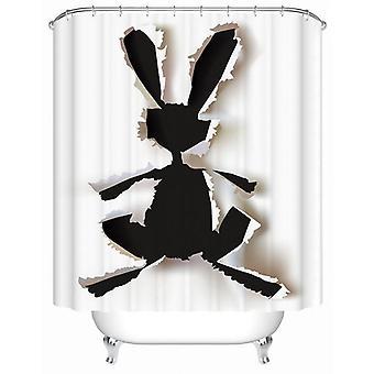 Rabbit Tear Up Shower Curtain