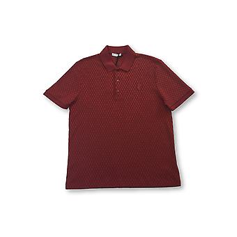 Versace Collection knitted polo in red check
