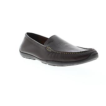 Tommy Bahama Orion Mens Brown Leather Low Top Mocassin Loafers Schoenen