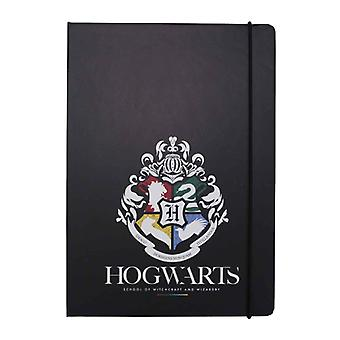 Harry Potter Stationery Notebook Hogwarts House Pride Logo new Official Black A5