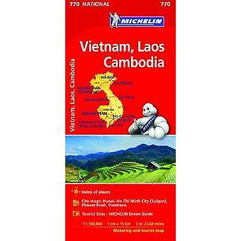 Vietnam Laos Cambodia  Michelin National Map 770