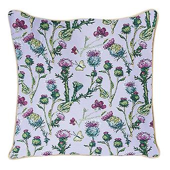 Thistle cushion cover by signare tapestry / 18in x 18in / ccov-this