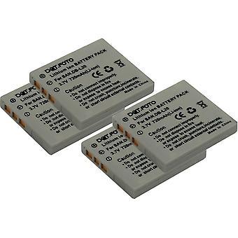 4 x Dot.Foto de la batería de repuesto Sanyo DB-L20, DB-L20AEX DB-L20EX - 3.7v / 720mAh