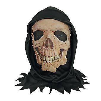 Pelle maschera W/Hood cranio