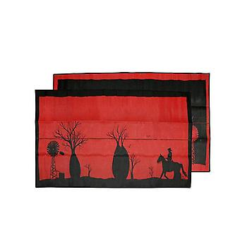 Boab Tree Xl Australia Design Recycled Mat Red And Black