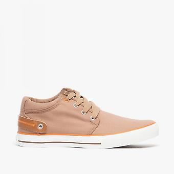 Front Reef Mens Toile Lacet-up Deck Chaussures Tan