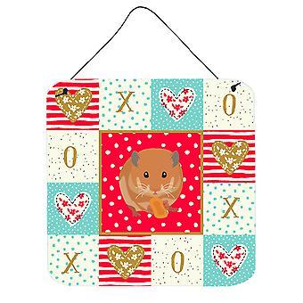 Nalle Karhu hamsteri rakkaus seinään tai oven roikkuu tulosteita