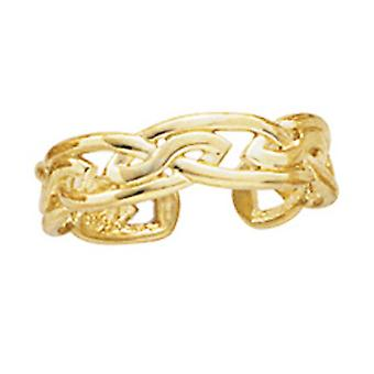 14k Yellow Gold Large Celtic Knot Toe Ring Jewelry Gifts for Women - 1.3 Grams