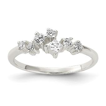 925 Sterling Silver CZ Cubic Zirconia Simulated Diamond Ring Jewelry Gifts for Women - Ring Size: 6 to 8