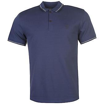 Barril de pólvora Mens Lazer camisa Polo manga curta superior Tee com nervuras dobra guarnição coleira