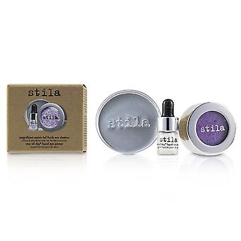 Magnificent Metals Foil Finish Eye Shadow With Mini Stay All Day Liquid Eye Primer - # Metallic Violet 2pcs