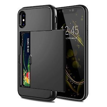VOFOLEN iPhone X - Lompakkokortti korttipaikan kansikoteloKotelo Business Black