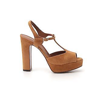 L'autre Koos Ldl05512cp05402106 Women's Brown Suede Sandals