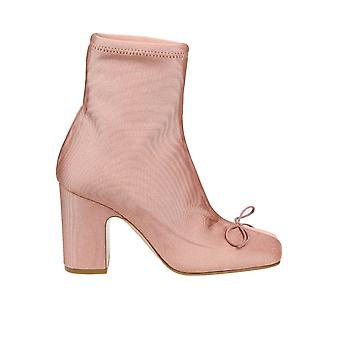 Red Valentino Tq2s0d65tiq11n Women's Pink Fabric Ankle Boots