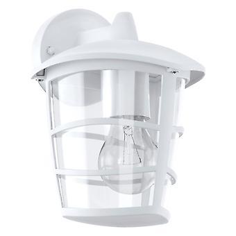 Eglo Aloria - 1 Light Outdoor Wall Lantern White IP44 - EG93095