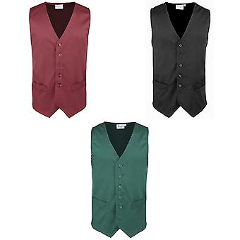 Premier Mens Hospitality / Bar / Catering Waistcoat  (Pack of 2)