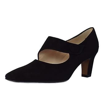 Peter Kaiser Olga Mary-jane Style Court Shoes In Black Suede