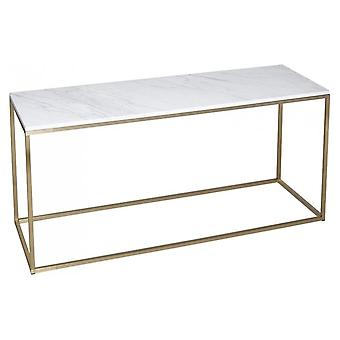 Gillmore White Marble en Gold Metal Hedendaagse TV Stand