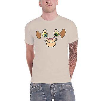 Lion King T Shirt Nala Face nya officiella Disney Mens Natural