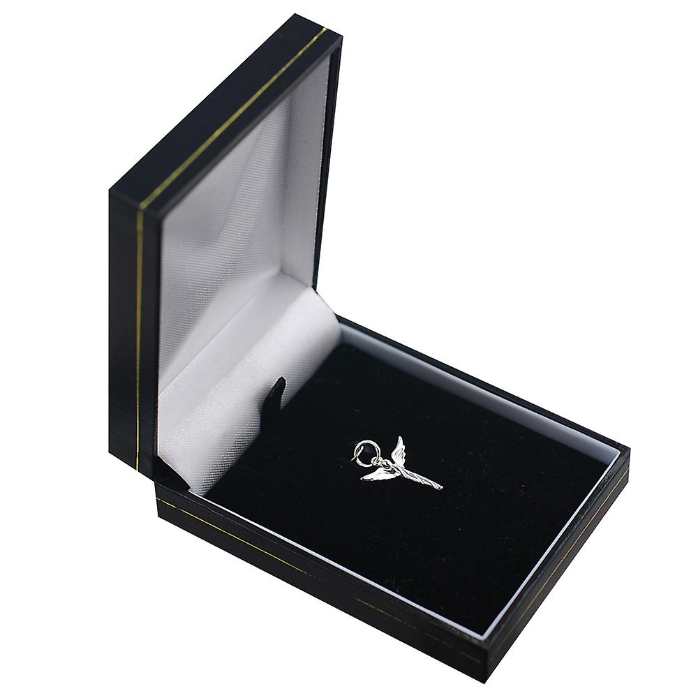 Silber 15x16mm Engel im Flug Anhänger oder Charm
