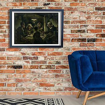 Vincent Van Gogh - os comedores de batata, 1885 01 Poster impressão giclée