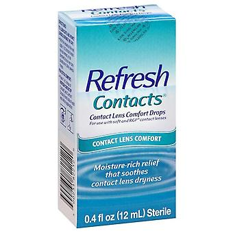 Actualiser les contacts, les gouttes de confort de verres de contact, 0.4 oz