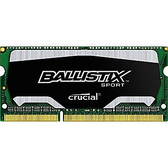 Ballistix BLS2C4G3N169ES4CEU الرياضة 8 جيجابايت مجموعة الذاكرة (4 GBx2)، DDR3، 1600 طن متري / ثانية (PC3-12800)، SODIMM 204-Pin