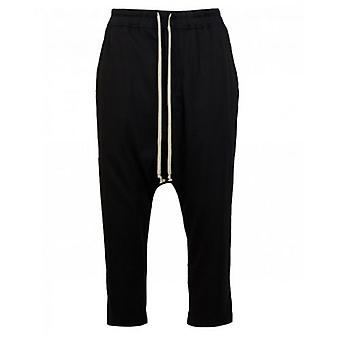 Rick Owens Drk Shdw Drawstring Cropped Jersey Trousers