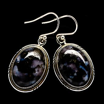 Boucles d'oreilles Gabbro Stone 1 1/2-quot; (925 Sterling Silver) - Handmade Boho Vintage Jewelry EARR399596