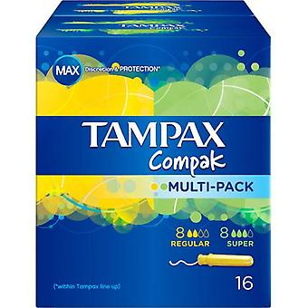 Tampax Compak Multipack Tampons 8 Regular +8 Super