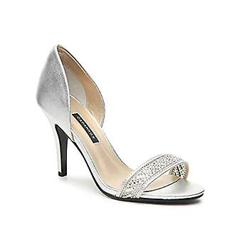 Caparros Illusion Metallic Embellished D'Orsay Pumps Silver Size 7M