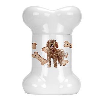 Carolines Treasures  CK2320BSTJ Labradoodle Bone Shaped Treat Jar