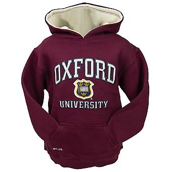 Ou129k kids licensed unisex oxford university™ hooded sweatshirt maroon